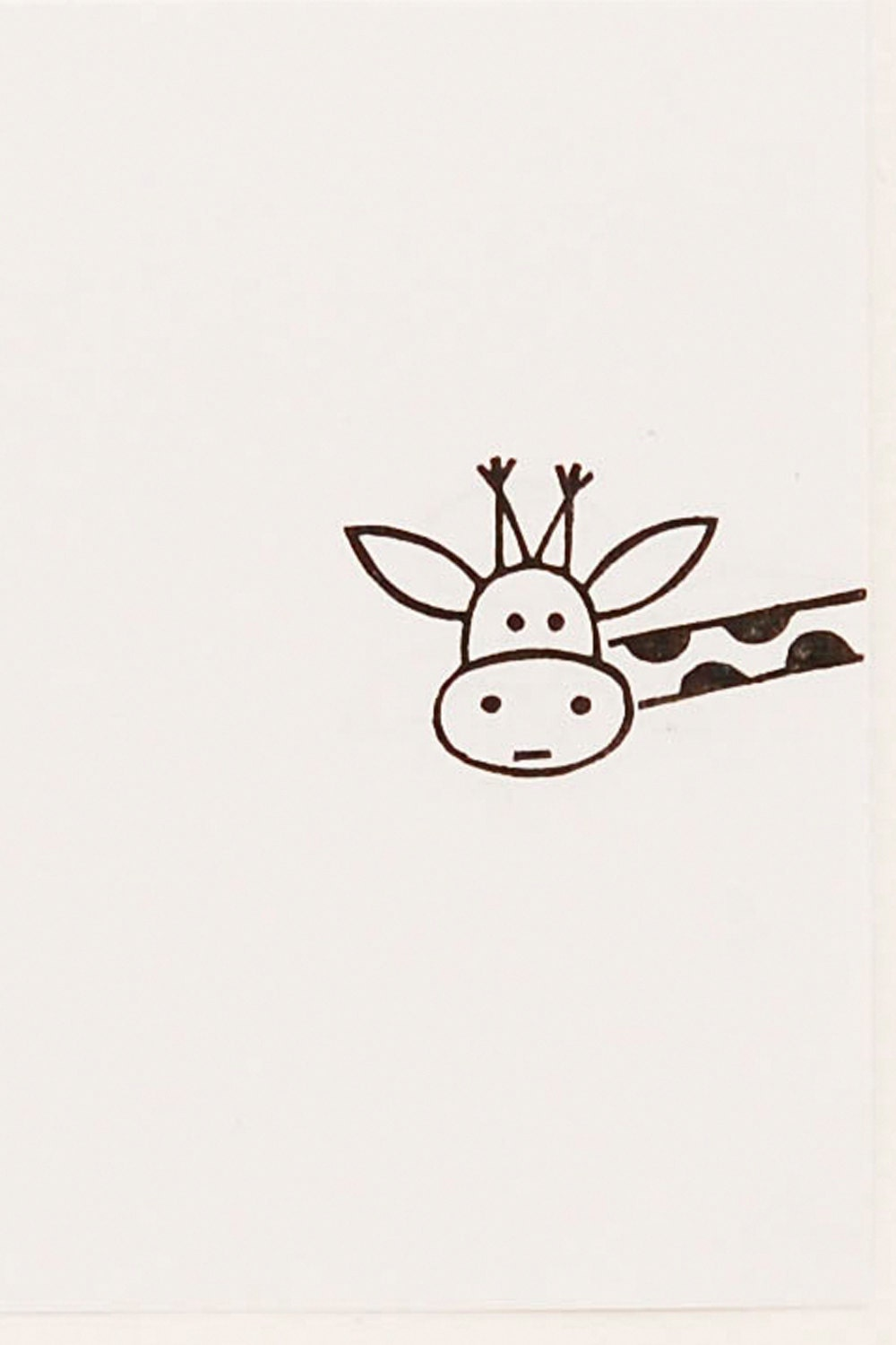 Funny giraffe peek a boo stamp kids gift around the for Cool easy