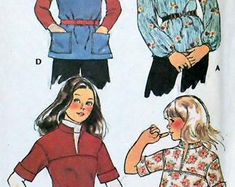 Tops - Girl's Set Size 7 - OOP Rare McCalls Pattern 5188