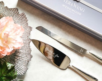 Personalized Vera Wang Infinity Cake Knife and Server Set - Custom Engraved Wedding Cake Server and Knife SET - Wedding Gift - Dessert Table