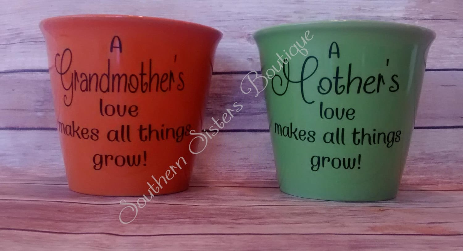 Personalized Flower Pot Mother 39 S Day Gift Love Makes All