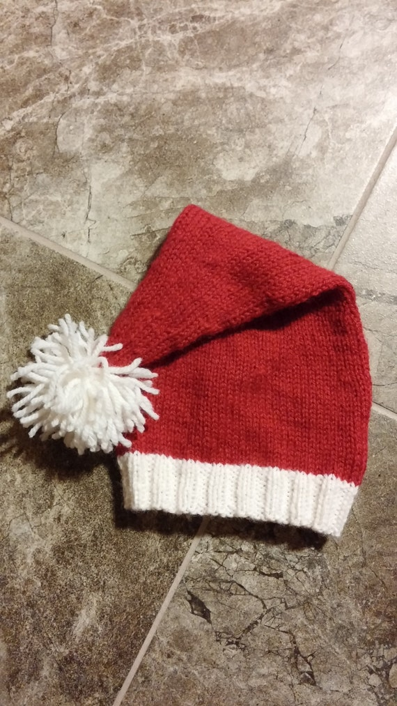 Items similar to PDF - Babys First Santa Hat - Knitting Pattern on Etsy
