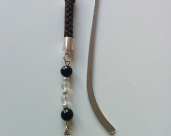 Skull and Crossbones bookmark - OOAK