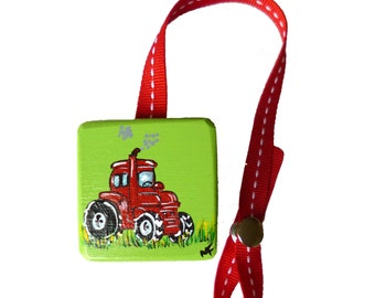 """Pacifier clip tractor / dimension approximately 1.75 """"x 1.75"""" / 7 """"Ribbon"""