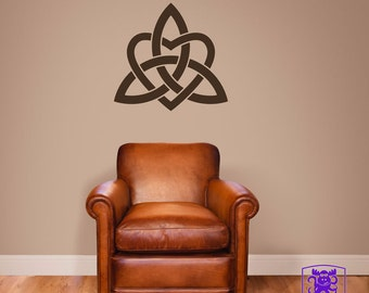 Celtic Trinity Knot with Heart Wall Decal