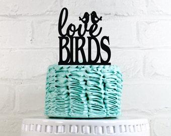 Love Birds Wedding Cake Topper or Sign