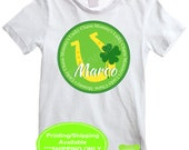 St. Patricks Day Iron On Transfer - Lucky Charm Iron On - Personalized Iron On - Shamrock Iron On - Digital and Printed Available