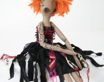 Randy - Handmade Cloth Doll - Red Head