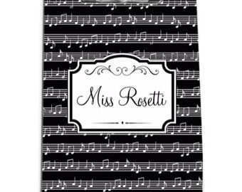 Gifts for Music Teachers Monogrammed Clip Board Personalized Gifts for Teachers Clipboard Clip Board  Music Teacher Appreciation Gift
