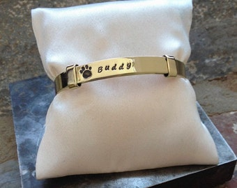 Quote, quote bracelet, Dog memorial, Dog lover, Paw print, dog memory, Paw, Bracelet, Jewelry, House of Metalworks, sympathy, b253BR