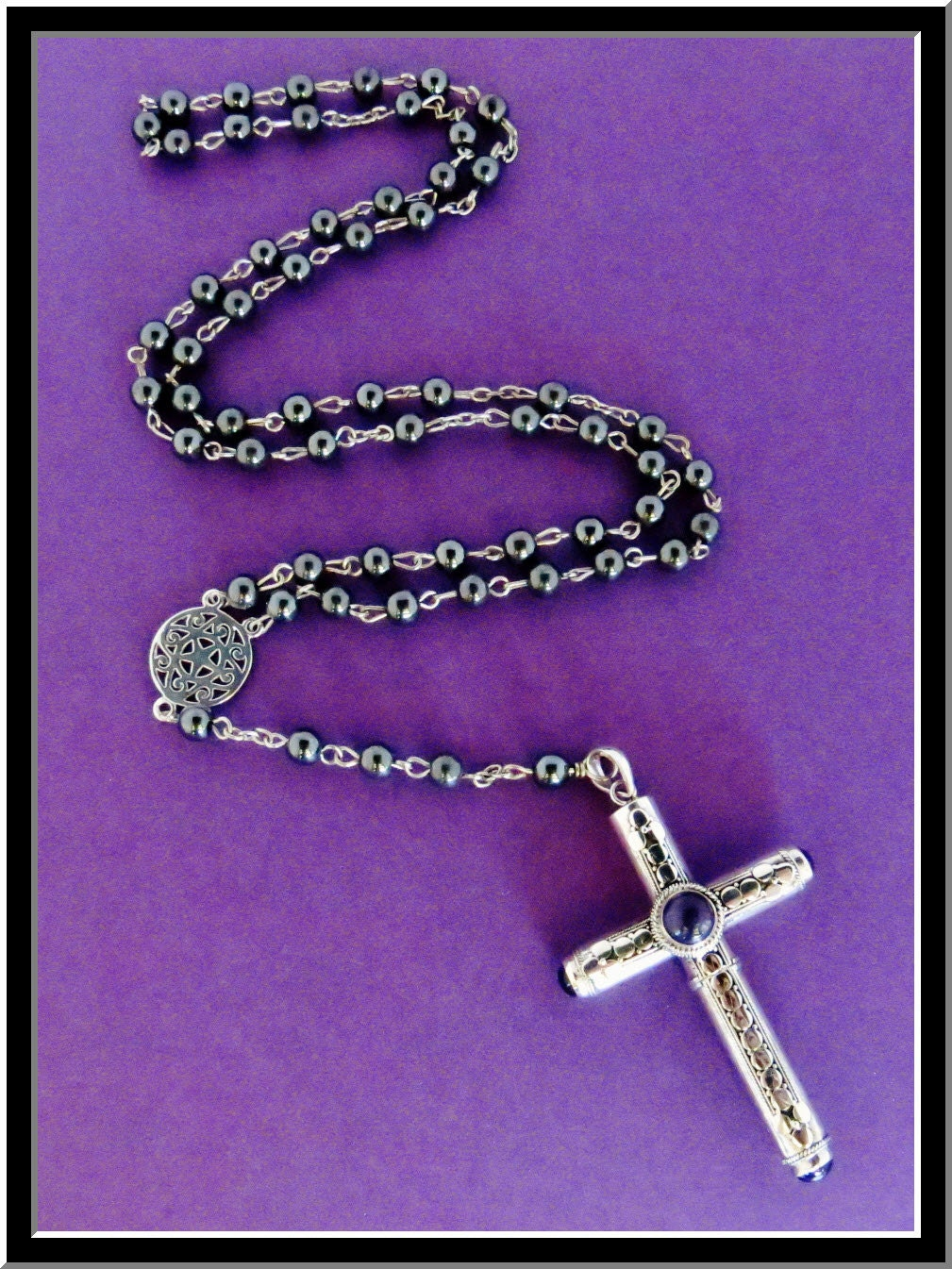 cruel intentions rosary stash necklace amethyst sterling