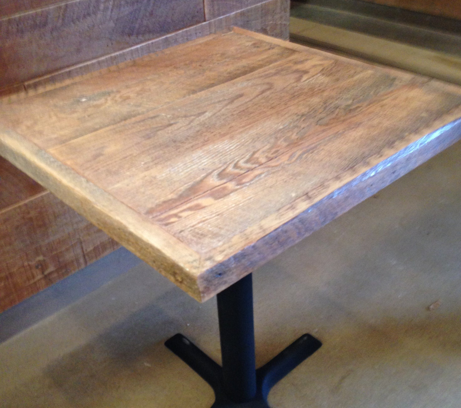 Reclaimed wood dining tablepub table top bistro table table Best wood for dining table