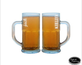 HUGE Beer Glass, SHIPS FAST, Personalized Beer Mugs, Custom Beer Stein, Dad Beer Glass, Gift for Dad, Fathers Day Beer Glass,  Bachelor Gift