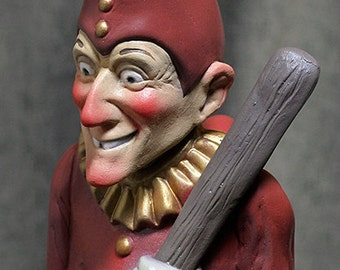 Mr. Punch - Punch and Judy Chalkware vintage style puppet sculpture