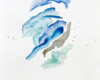 original abstract meditative watercolor painting | a soft breeze across the cheek, stephanie guarino