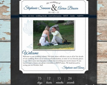 Custom Wedding Website - Rustic
