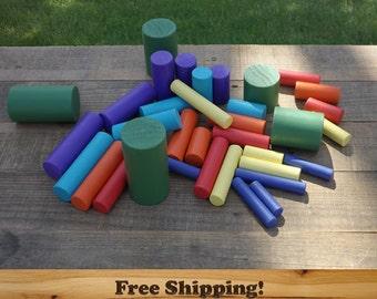 Montessori Learning Cylinder Blocks!