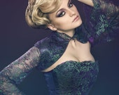 """Sample Sale! OOak Lace Corset and Shrug """"Witchcraft"""""""