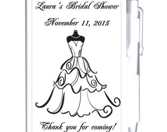 24 Black and White Bridal Shower Notebook Favors