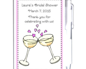 24 Cheers Bridal Shower Notebook Favors