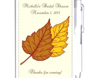 24 Fall Theme Bridal Shower Notebook Favors