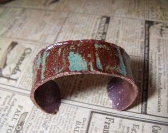 Forged Copper Cuff - Rustic Industrial Bracelet