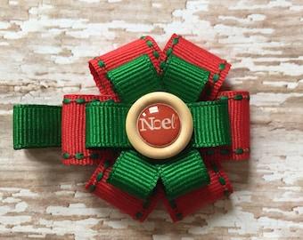 Small Noel Christmas Bows, Noel Hair Clips, Noel Christmas Hair Accessory for Girls, Noel Hair Clips, Christmas Hair Accessories, Noel, Bow