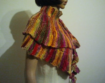 Colorful festive long scarf or shawl