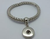 NOOSA Style Single Snap Stretch Metal Bracelet For Chunk Charms Ginger Snaps Style