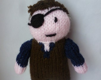 The Governor (The Walking Dead) knitted doll