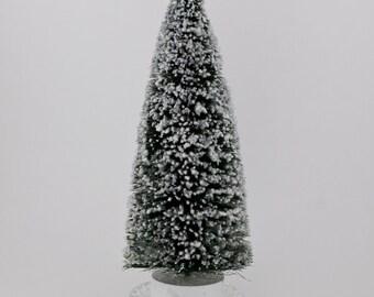 Large Bottle Brush Tree with Glitter in Crystal Upcycled Base