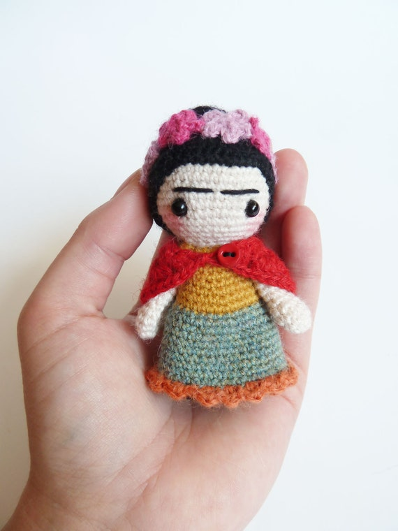 Amigurumi Monster Free Pattern : Frida Kahlo doll handmade frida kahlo doll cute pocket