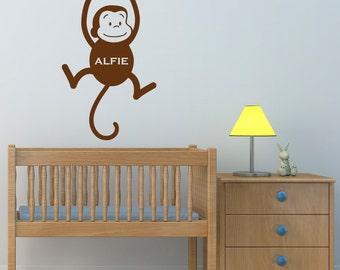 Nursery Wall Art monkey wall decal | etsy