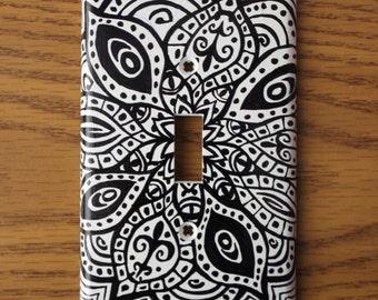 mandala light switch cover
