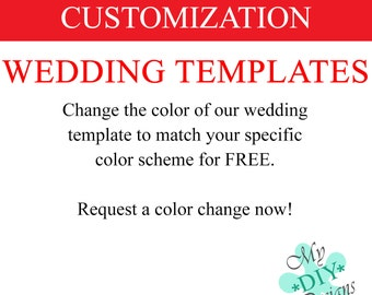 Wedding Templates Color Customization for FREE