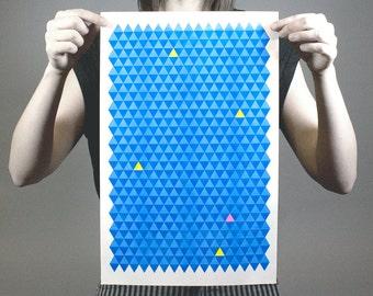 Triangle City 3 | Risograph Print