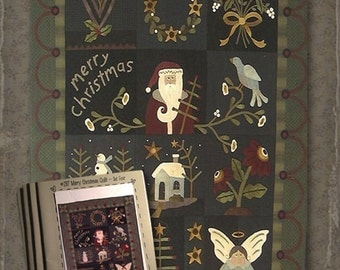 Pattern: Merry Christmas Quilt Set of 4