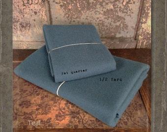 Wool: Fat Quarter 100% Wool - TEAL - Marcus Fabrics