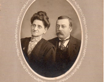 Antique Photo of Bespectacled Couple
