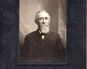 Antique Photo of Stately Bearded Gent
