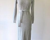 REDUCED 1970s Sweater Dress w/ Belt