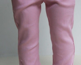 Pink Stretch Twill Skinny Jeans for American Girl, 18 inch dolls