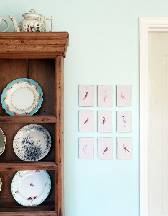 Items Similar To Bird Prints Set Vintage Kitchen Decor