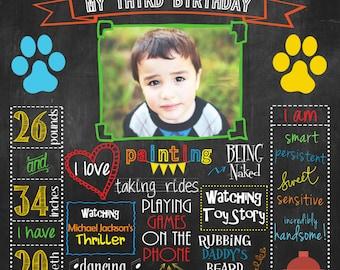 Puppy Dogs, Chalkboard Poster DIGITAL FILE