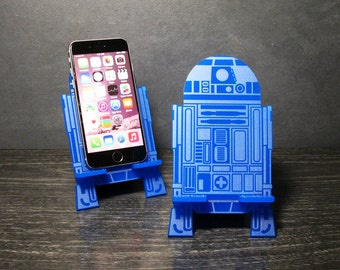 Star Wars R2-D2 Inspired Universal Smart Phone Stand Dock - Fits iPhone 6, iPhone Plus, iPhone 5 or 4, Android, Samsung Galaxy s3 s4 s5