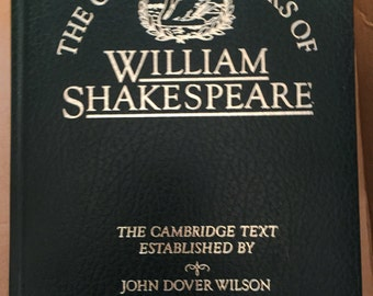 William SHAKESPEARE The Complete Works of Cambridge University Press 1980 BONDED LEATHER - Excellent Condition