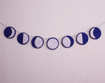 7-Cycle Moon Phase Felt Garland (Small)