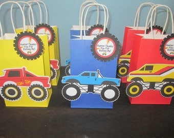 Monster goody bags(10)Monster Truck bags,Party bags,Monster Truck Decor,Monster Truck Party,Kids Monster Truck,Boys Treat Bags,Monster Party