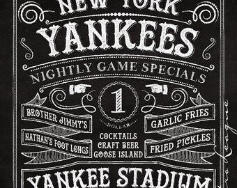 Yankees man cave   Etsy