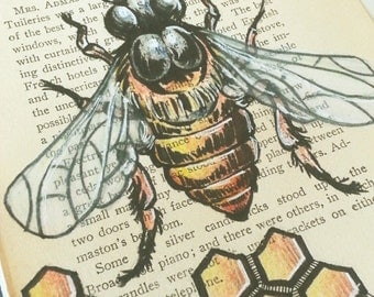 Original Honey Bee drawing/ Hand Drawn Book art