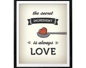 The secret ingredient is always love. Kitchen art kitchen wall decor kitchen art kitchen wall art kitchen print kitchen poster. Latte Design